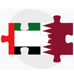 United arab emirates and qatar flags vector