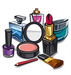 Makeup and perfumes vector