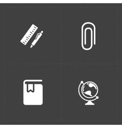 Modern flat social icons set on dark background vector