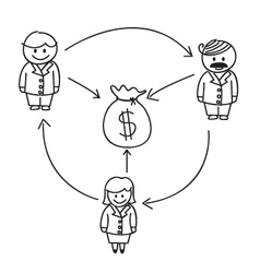 Business Money Flow vector image