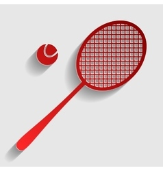 Tennis racquet sign vector