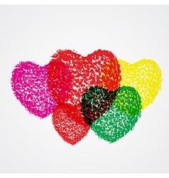 Splash heart colorful vector