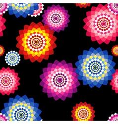 Sunflowers On Black vector image