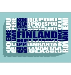 Finland cities tags cloud vector