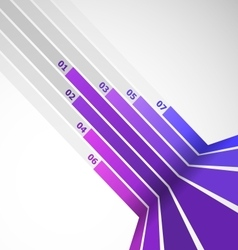 Abstract design element with violet lines vector image