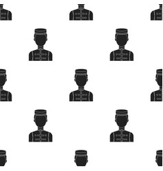 Bellboy icon in black style isolated on white vector