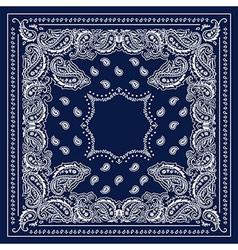 Blue bandanna vector