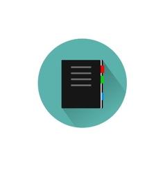 Book Icon Flar design vector image