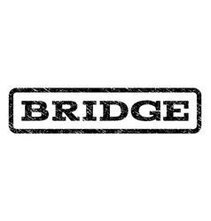 Bridge watermark stamp vector