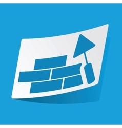 Building wall sticker vector