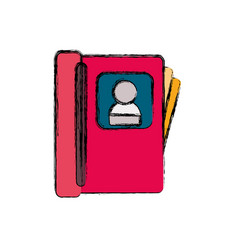 Contacts book isolated vector