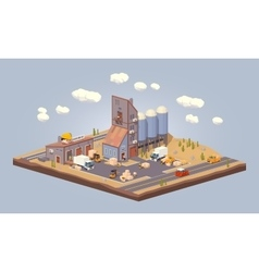 Cube World Warehouse vector image
