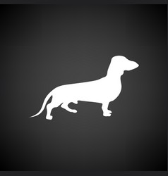 Dachshund dog icon vector