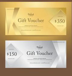 Elegant gift voucher or gift card template vector