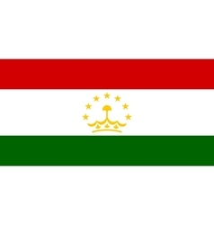 Flag of Tajikistan in correct size colors vector image vector image