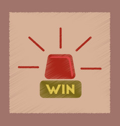 Flat shading style icon win lamp vector