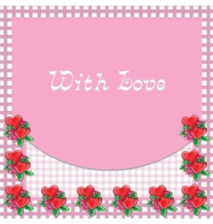 Frame with hearts - image vector image