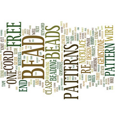 Free bead patterns text background word cloud vector