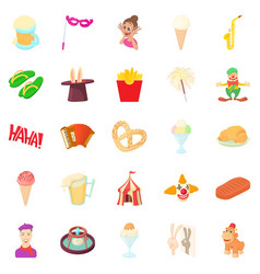 gaiety icons set cartoon style vector image