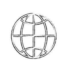 Global connection sphere icon vector