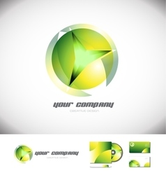 Green sphere 3d logo design icon vector image vector image