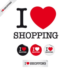 i love shopping vector image vector image