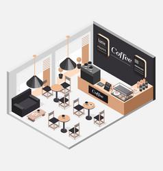 interior of coffee shop vector image