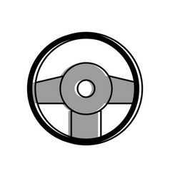 Isolated rudder design vector