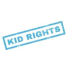 Kid rights rubber stamp vector