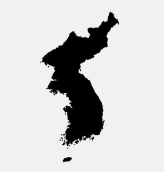 korea island map silhouette vector image vector image