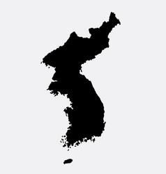 korea island map silhouette vector image vector image