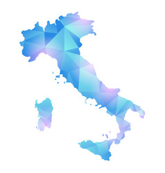 map of italy polygon vector image