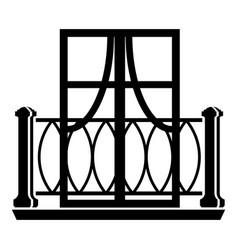 Outdoor balcony icon simple style vector