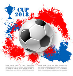 Poster for soccer cup or football club vector