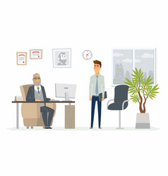 stressful situation at work - modern cartoon vector image