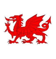 Welsh dragon vector