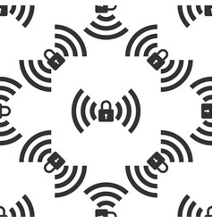 wifi locked sign icon seamless pattern vector image