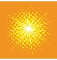 Bright star with rays pop art retro background vector