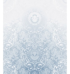 Seamless Wallpaper Pattern pale blue vector image