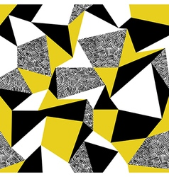 Yellow triangles Geometric seamless pattern in vector image