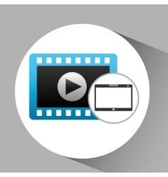Touchpad digital video strip vector