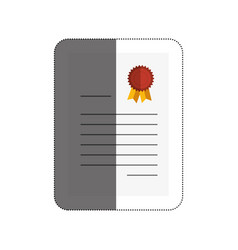 Diploma certificate isolated icon vector