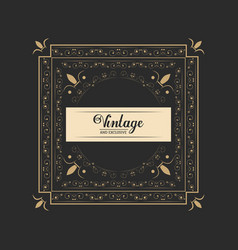 vintage and exclusive luxury legant badge dark vector image