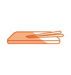 traditional japan of sushi plate or wooden vector image