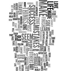 You can be a success text word cloud concept vector