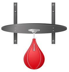 Punching bag for boxing 02 vector