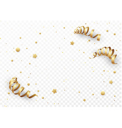 golden serpentine on a transparent background vector image