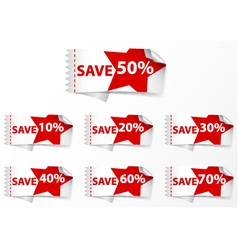 Discount labels with star vector
