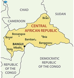 Central african republic - map vector