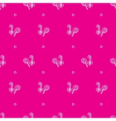 Hand drawn lollipop seamless pattern vector